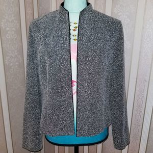 Jessica Howard Textured Tan Open Jacket Size 12P